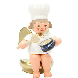 Baker Angel Sitting with Spoon  -  7,5cm / 3 inch