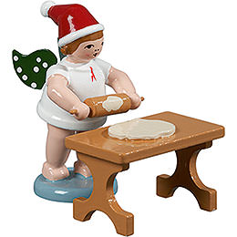 Baker Angel with Hat and Rolling Pin at the Table  -  6,5cm / 2.5 inch