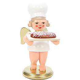 Baker Angel with Stollen Cake  -  7,5cm / 3 inch
