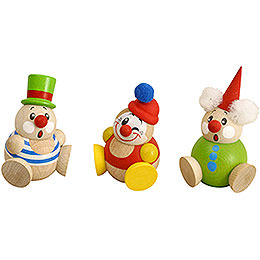 Ball Figures Clowny  -  3 pcs.  -  6cm / 2 inch