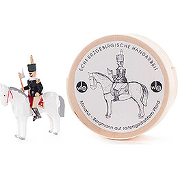 Bergmann auf Pferd in Spandose  -  3cm