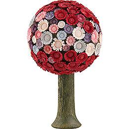Blütenbaum rot/pastell  -  7,5x4,5cm