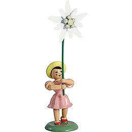 Blumenkind Edelweiss, farbig  -  12cm