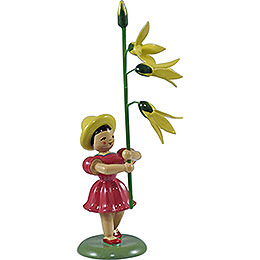 Blumenkind Forsythie, farbig  -  12cm