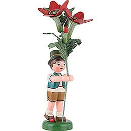 Blumenkind Junge mit Tabak  -  24cm