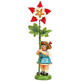 Blumenkind Mädchen mit Akelei  -  11cm