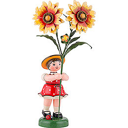 Blumenkind Mädchen mit Kokardenblume  -  24cm