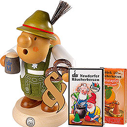 Bundle  -  Smoker Bavarian with Costume plus two packs of incense