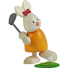 Bunny Emma Golfing, Teeing Off  -  9cm / 3.5 inch