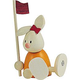 Bunny Emma Golfing with Flag  -  9cm / 3.5 inch