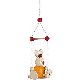 Bunny Emma on Swing  -  9cm / 3.5 inch