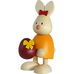 Bunny Emma with Large Egg  -  9cm / 3.5 inch