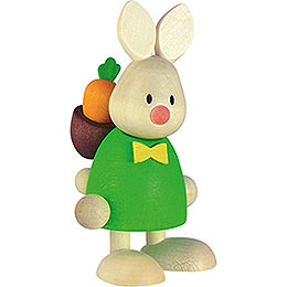 Bunny Max with Back Pack Rod and Carrot  -  9cm / 3.5 inch
