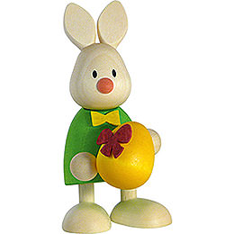 Bunny Max with Large Egg  -  9cm / 3.5 inch