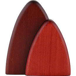 Bush for Wall Frames, Red  -  10cm / 3.9 inch