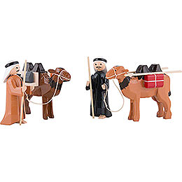 Camel Herder, Set of Four, Colored  -  7cm / 2.8 inch