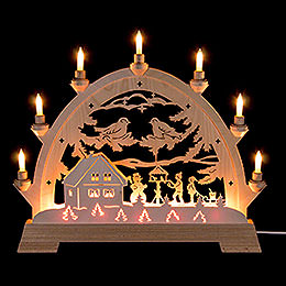 Candle Arch  -  Children in Bird House  -  48cm / 18.9 inch