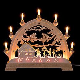 Candle Arch  -  Children in Bird House  -  48cm / 18.9 inch