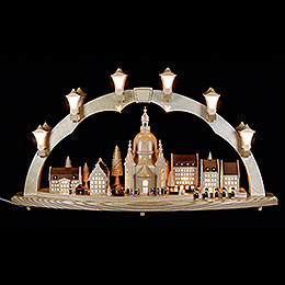 Candle Arch  -  Church of Our Lady with Christmas Fair  -  41x17 inch  -  80x43cm / 16.9 inch