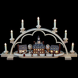 Candle Arch  -  Colonial Village  -  64cm / 25 inch  -  120 V Electr. (US - Standard)
