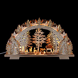 Candle Arch  -  Forest Scenery  -  72x41x13cm / 28.3x16.1x5.1 inch
