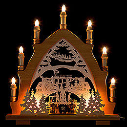 Candle Arch  -  Miners Ore Mountains  -  43x45cm / 16.9x17.7 inch