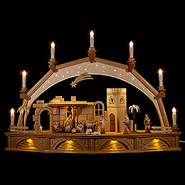 Candle Arch  -  Oriental Nativity  -  Colored  -  75x50cm / 29.5x19.7 inch