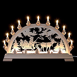 Candle Arch  -  Santa Claus with Sleigh  -  65x43cm / 16.9 inch