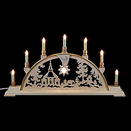 Candle Arch  -  Seiffen Church  -  63x32cm / 25x13 inch