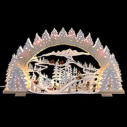 Candle Arch  -  Sledding on Goat Mountain  -  72x41x7cm / 28x16x5 inch