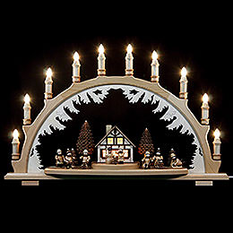 Candle Arch  -  Winterchildren  -  67x42cm / 26x17 inch