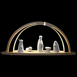 Candle Arch  -  modern wood  -  Nativity  -  57x26x10cm / 22,5x10x4 inch