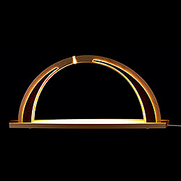 Candle Arch  -  modern wood  -  without Figurines  -  57x26cm / 22.4x10.2 inch
