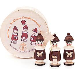 Carolers natural in Wood Chip Box  -  3,5cm / 1.4 inch