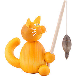 Cat Emmi with Fish  -  8cm / 3.1 inch