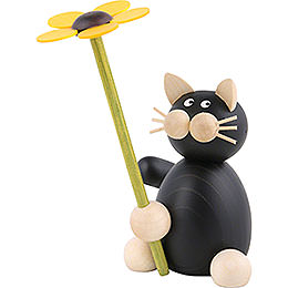 Cat Hilde with Flower  -  8cm / 3.1 inch