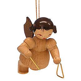 Christbaumschmuck Engel mit Triangel  -  natur  -  schwebend  -  5,5cm