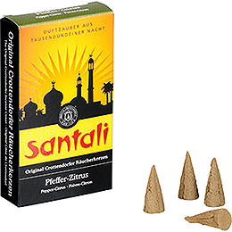 Crottendorfer Incense Cones  -  Santali Pepper - Lemon
