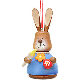 Easter Ornament  -  Teeter Bunny with Paintbrush  -  9,8cm / 3.9 inch