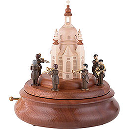 Electronic Music Box  -  Brass Band at the Church of Our Lady  -  21cm / 8 inch