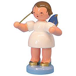 Engel Dirigent  -  Blaue Flügel  -  stehend  -  9,5cm