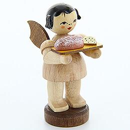 Engel mit Stollenbrett  -  natur  -  stehend  -  6cm
