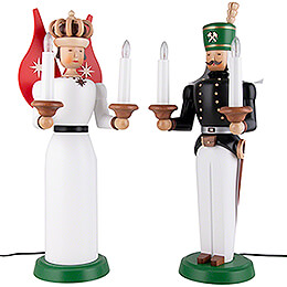 Engel und Bergmann  -  elektrisch, farbig  -  40cm