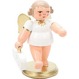 Engel weiss/gold mit Geigenkasten  -  6cm