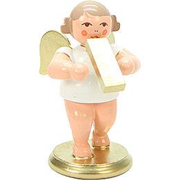 Engel weiß/gold mit Melodika  -  6,0cm