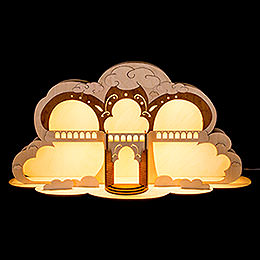 Engelhaus mit LED Beleuchtung  -  55x27cm
