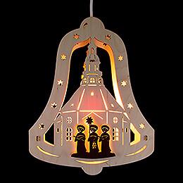 "Fensterbild Glocke ""Kurrende""  -  22,5x28,5x5cm"