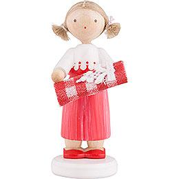 Flachshaarkinder Mädchen mit Stoffballen  -  5cm