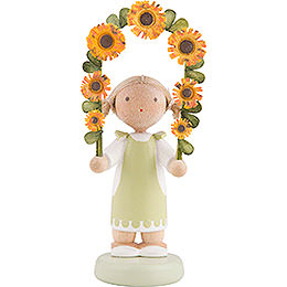 Flax Haired Children Boy with Flower Garland  -  5cm / 2 inch