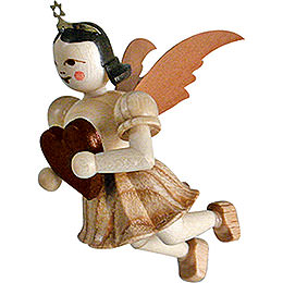 Floating Angel Heart, Natural  -  6,6cm / 2.6 inch